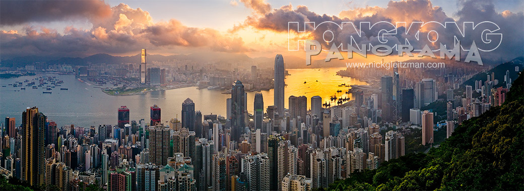 NIck Gleitzman Hong Kong, Victoria Harbour and Kowloon from The Peak at sunrise