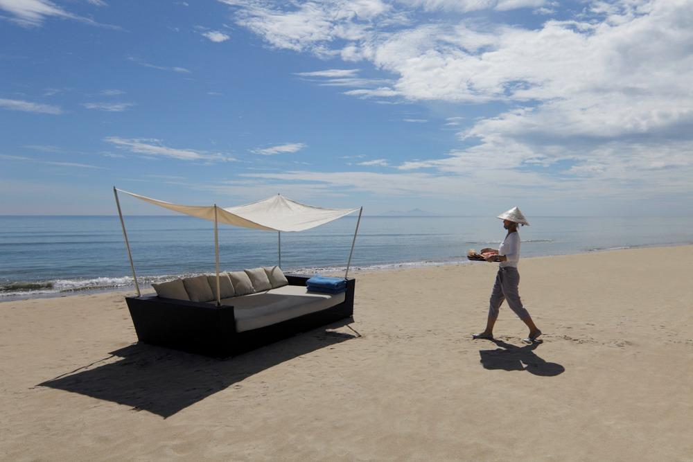 on the beach at Fusion Maia spa resort Danang