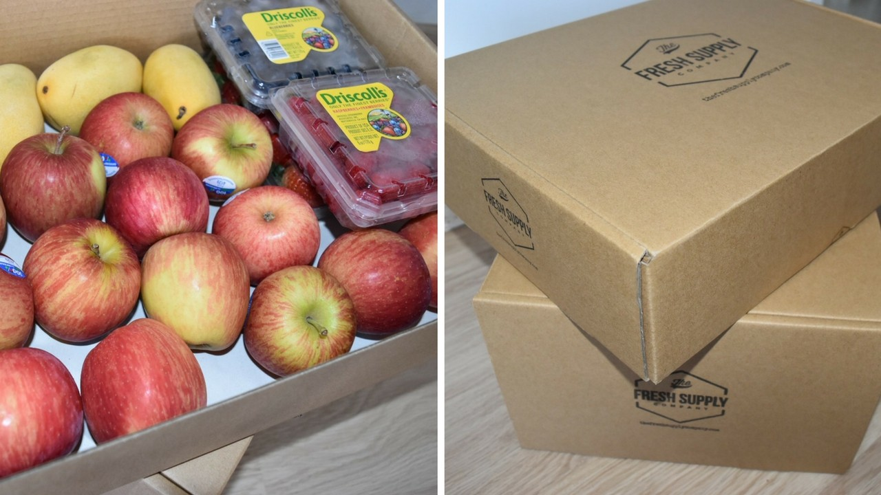 The Fresh Supply Company packaging and fruit