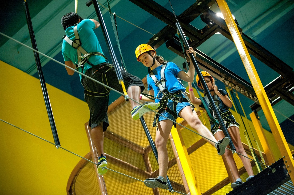 the high rope course at EpicLand