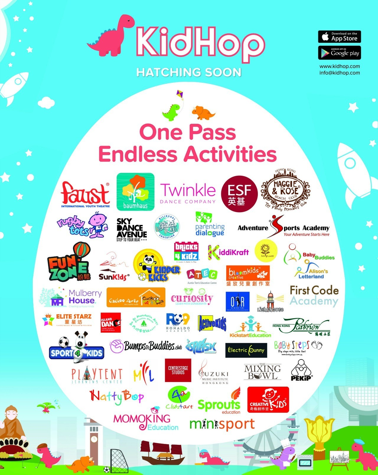 KidHop activity providers