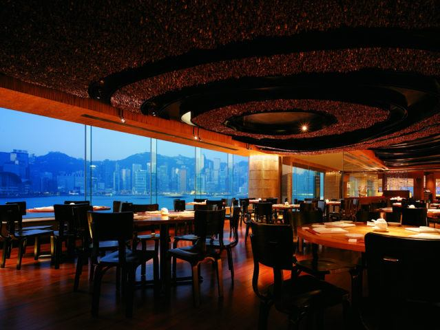 Nobu, Hong Kong interior with views