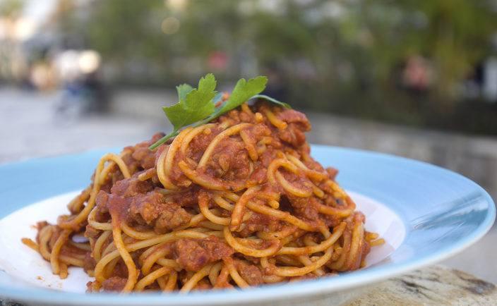 Spaghetti Bolognese at Hemingway's