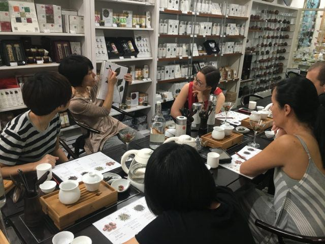Tea tasting workshop