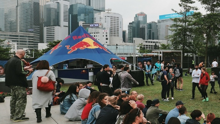 Red Bull tent at Clockenflap