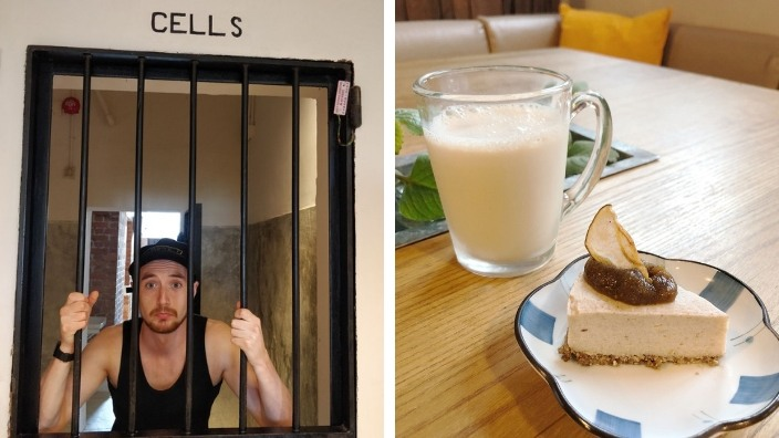 cells and food at Tai Po Police Station