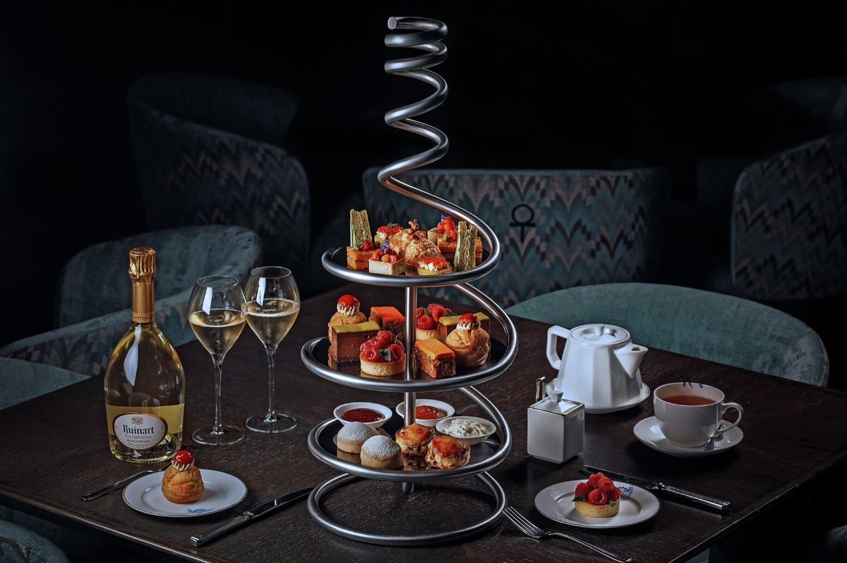 Ruinart afternoon tea at Statement