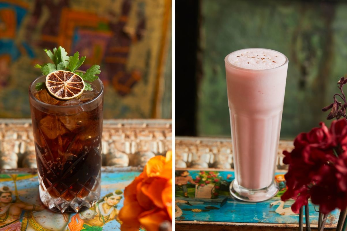 Chaiwala Masala Coke (Left) and Roohaza Afza Lassi (Right)