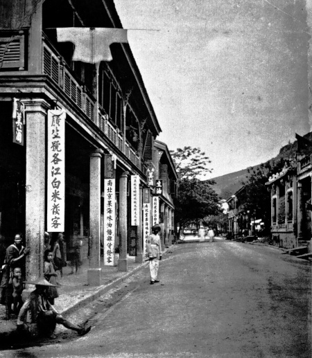 old street in happy valley british colonial hong kong